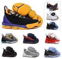 Nouveaux Garçons Enfants Hommes Basketball 16s Jeunes Filles Chaussures  King LB Multicolore Femmes Lakers 16 James 16 Entraîneurs Sports Sneaker  Taille US4- ... b9117be4b