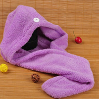 Wholesale black magic towels resale online - Magic Quick Dry Hair Shower Caps Microfiber Towel Drying Turban Wrap Hat Caps Spa Bathing