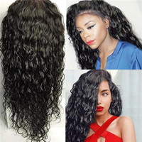 Wholesale discounted virgin remy hair for sale - Nature Qingdao discount sexy style new unprocessed remy virgin human hair long natural color big curly full lace wig