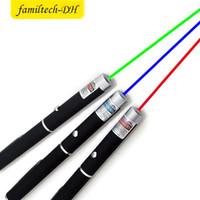 ingrosso laser blu leggero potente-a buon mercato Puntatore laser Grande potenza leggera alla moda 650nm rosso blu verde Puntatore laser Penna luminosa Lazer Beam 1mW Alto potere