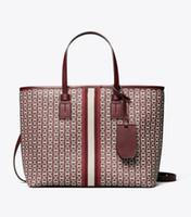Wholesale unique brown handbags resale online - desinger shoulder fashion bag luxury handbag the latest canvas jacquard shopping bag High quality Unique shape design shopping bags