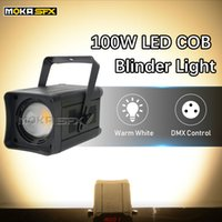 audience blinder lights 2021 - 2pcs lot 100W COB Par Light Stage Lighting LED Warm White Cold White RGBW 4in1 Blinder Light for DJ Concert Wedding Audience Light