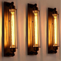 lámpara colgante de techo arañas vintage al por mayor-Antigüedades Estilo vintage Loft Industrial Vintage Edison Lámpara de luz de pared barra resturent Lámparas colgantes techo Lámpara Luz