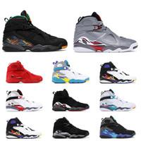 mens basketball shoes à vendre achat en gros de-Nouveau 8s chaussures de basket pour hommes 8 VALENTINES DAY blanc AQUA Trois PEAT CHROME Bricoleur TICKER SUD BEACH mens baskets de sport athlétique vente chaude