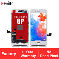 High Quality No Dead Pixel LCD Display For iPhone 8 Plus touch screen 1 year Warranty + Free DHL Shipping
