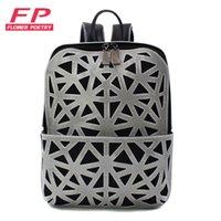 1c95777096b 2019 New Geometric Backpack Women Mini Folding Student School Bags for  Teenage Girl Women Backpacks Hologram Travel Backpack