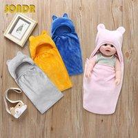 Wholesale cute girls diapers resale online - SONDR Cute Baby Swaddle Blanket Soft Boys Girls Sleeping Sleepsack Infant Diaper Cocoon Sleeping Newborn For Months Bedding