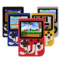 мини-цветные коробки оптовых-SUP Игровая Консоль Ультратонкий Мини Портативный Игровой Автомат Портативный Классический Игрок Видеоигры Цветной Дисплей Игры С Розничной Коробкой Развлечения