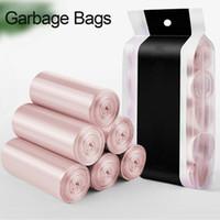 rollos de bolsa de basura al por mayor-Nuevo 5 Rollos de Basura Bolsos de Basura Durable Desechable Herramienta de Cocina Casera De Plástico