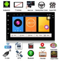 Wholesale car gps online - Android Bluetooth Quad Core Car Stereo Radio DIN quot MP5 Player GPS Wifi FM