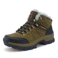 zapatos de escalada al por mayor-Para mujer para hombre de la nieve botas de escalada al aire libre populares Montañismo zapatos felpa de gran tamaño