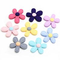 Random 20pcs Resin Daisy Flowers Craft Cabochons Decor 8-27mm DIY Jewelry Making
