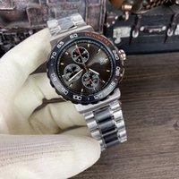 banda de reloj 16 al por mayor-Nuevo estilo de cuarzo VK movimiento cronógrafo calibre 16 hombres relojes inoxidable banda reloj masculino Montre Homme