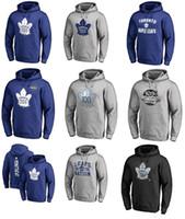 Wholesale nhl hockey hoodie resale online - 2017 NHL Auston Matthews Toronto Maple Leafs Name Number Sweatshirts Hoodies for man women kid