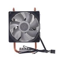 4pin cpu fan großhandel-9Cm 2 Heat Pipe 4Pin Single Fan Mit Licht CPU-Lüfter CPU-Kühlkörper Für Intel 775/1150/1155/1156/1366 Für Adm All