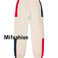 ingrosso usa pantaloni-19ss Luxury American Box Logo Pantaloni di alta qualità Patchwork Colore Pantaloni in pile casual Pantaloni uomo Donna Hip hop Pantaloni jogger Taglia USA