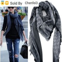Wholesale scarves letters resale online - Chenfei3 XSL7 Factory Sell High Quality Classic Wool Cashmere Scarf Women Silk Wrap Shawl Letter Printing Scarves x140cm