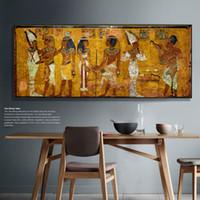 ingrosso arte di parete egiziana-Parete egiziana vintage Stampa foto su tela Grande Egitto Canvas Art Print Wall Decor Poster per soggiorno decorazioni per ufficio