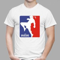 neue kicks großhandel-New Muay Thai Kick Boxing Thai Kampf Martial Art Männer weißes T-Shirt Größe S-3XL