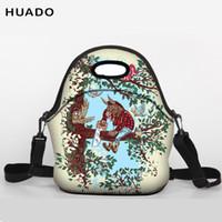 Wholesale baby red belt resale online - Student Lunch Bag Neoprene Lunch Tote bag With shoulder belt for Women Kids Baby Girls