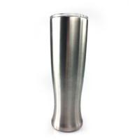 kamp için çelik kupalar toptan satış-Moda 30 oz Pilsner Şekilli Kupa Çift Katmanlı Vazo Bardak Paslanmaz Çelik Bira Pilsner Gözlük Açık Kamp Içme Kahve Çay Bira kupa