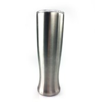 ingrosso vasi di moda-Moda 30 oz Tazza a forma di Pilsner Vaso a doppio strato Bicchiere Bicchiere da birra in acciaio inossidabile Bicchieri da campeggio all'aperto Bere caffè Tè Boccale di birra
