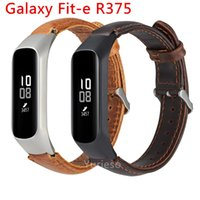Wholesale smartband samsung online – Smart Watch Smartwatch Wrist Band Leather Watch Replacement Strap For Samsung Galaxy fit e R375 Metal Frame Straps Smartband