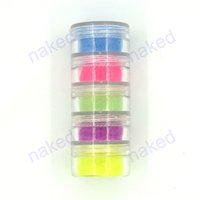 Wholesale phosphor coating resale online - Noctilucent powder glitter Phosphor Coating DIY nail art Photoluminescent makeup Dust Glow in Dark luminous fluorescent Powder Pigment