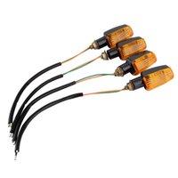 moto allumer la lumière achat en gros de-Universal Moto Clignotants Clignotants Clignotants Orange Lampe 12V Livraison Gratuite