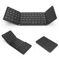 Wholesale keyboards wireless for sale - Group buy portable mini foldable keyboards Bluetooth Wireless Keyboard with Touchpad Mouse for Windows Android ios Tablet ipad Phone wireless keyboard