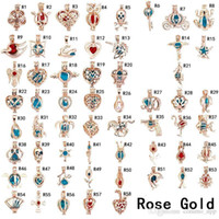 Fashion Pearl Cage Pendants Rose Gold Silver Plated Gem Beads Floating Lockets Charms For Necklaces Diy Jewelry Making In Bulk Wholesale