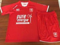 eşofman 16 toptan satış-FC Twente Çocuk Futbol Formalar 2019 2020 eşofman şort takımları kiti ile 19 20 Futbol erkek kız Gömlek