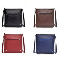 Wholesale female tools for sale - Group buy Vintage Women Shoulder Bags Red Blue Brown Color Female Handbag PU Leather Anti Wear Messenger Bags Hot Selling gd E1