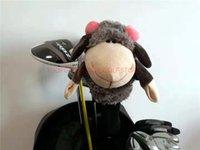 damen golf wälder großhandel-Cartoon Tier Dame Blume Schaf Golf Fairway Woods Headcover Golf Hybrid Abdeckung Sportartikel Club Zubehör Maskottchen Neuheit Queue Geschenk