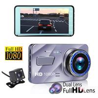 ingrosso monitor nero della scatola-1080P full HD auto DVR auto scatola nera veicolo dashcam digitale 2Ch 4 pollici 170 ° ampio angolo di visione WDR monitor di visione stellare di visione