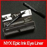 makyaj için mürekkep toptan satış-Göz makyaj NYX Epic Mürekkep Kalemi nyx Siyah Eyeliner Kalem Başlı Makyaj Sıvı Siyah Renk Göz Kalemi Suya Kozmetik ücretsiz kargo