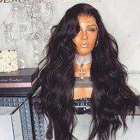 pelucas parte de la virgen india u al por mayor-Cabello humano U pelucas sueltas Wave Virgin Indian Remy sin procesar Pelo humano Upart peluca ondulada para mujeres negras