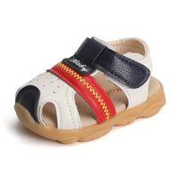 sandale tier baby großhandel-2019 sommer Naturleder Kinder Baby Jungen Mädchen Prewalkers Anti-slip Hookloop Tiere Kinder Sandalen Schuhe Kinder Sandalen