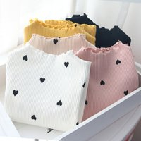 Wholesale baby winter t shirt for sale - Group buy 2019 Spring autumn baby girl t shirt long sleeve love heart print cotton tops children tees top quality