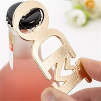 Wholesale gold beer resale online - Hollow Out Beer Bottle Opener Alloy Metal I Do Love Openers Of Wedding Birthday Gift Gold Plated Creative lta E1