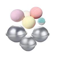 Wholesale bath bomb moulds resale online - pack Bath Bomb Cake Mold D Aluminum Alloy Ball Sphere Bath Bomb Mold Cake Baking Pastry Mould cm cm cm