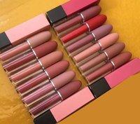 suministros para lápiz labial al por mayor-Brillo de labios de maquillaje de alta calidad lápiz labial mate impermeable brillo de labios fácil de usar 12 colores fuente de fábrica