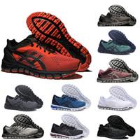 jel spor ayakkabıları toptan satış-Gel Asics gel En Kaliteli GEL-QUANTUM 360 KNIT 2 ÜST KRKT Erkekler Koşu Ayakkabıları Kırmızı Üçlü Siyah Beyaz Metal Bronz Gümüş Hardal Spor Eğitmenler Sneakers Koşucular