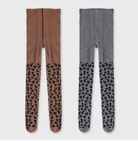 Wholesale leggings leopard children resale online - Kids Leopard Stockings INS Pantyhose Leopard Grain Pattern Tights Baby Soft Cotton PP Bottoms Children Princess Leggings GGA2781