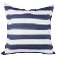 Wholesale modern couch cushions resale online - Decorative Throw Pillow Cover Modern Farmhouse Stripe Cushion Cover for Couch Sofa Bed Decoration White Mixed Navy Blue Pillow Case