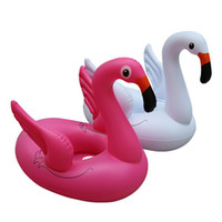 leben boje baby großhandel-78 * 58 * 65 cm Kinder Flamingo Float Schwimmring Baby Rettungsring Schwimmring Flamingo Wasser Kreis Flamingo Pools Spielen Im Freien CCA11535 12 stücke