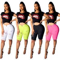 Wholesale hole leggings hollow for sale - Group buy 2019 Women New Hole Hollow Out Pencil Knee Length Pants Classic Active Wear Fashion Trourser Leggings Color Jeans