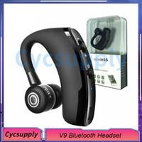 negocio de micro al por mayor-Auriculares inalámbricos Bluetooth V9 manos libres CSR 4.1 Control de ruido Auriculares Bluetooth inalámbricos comerciales Control de voz con micrófono para conductor deportivo
