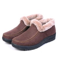 Wholesale old beijing cloth shoes for sale - Group buy Winter new cotton shoes a pedal soft bottom anti slip elderly women s shoes cotton boots old Beijing women s cloth boots