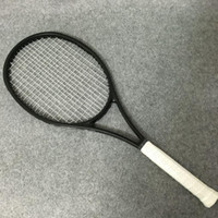 kohlefaser zoll großhandel-Wholesale-NEW Zoll 100% Carbon Tennisschläger Taiwan OEM-Qualität Tennisschläger 315g Federer schwarzen Schläger